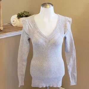 Structured Shoulder Jumper Detailed  Knit Sweater